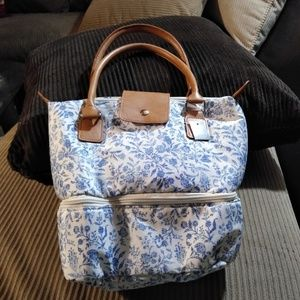 Threshold Blue and White Lunch Tote